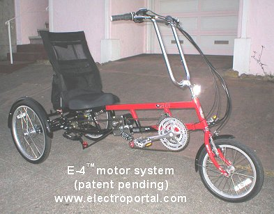 Electric bicycle motor kits electric bicycles electric for Recumbent bike with electric motor